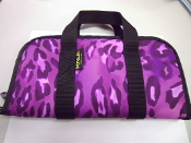 KNJ Rectangle Pistol Case  - Purple Leopard