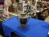 (bs) ANTIQUE SWITCHMANS LANTERN, RED, SOTHERN PACIFIC CO