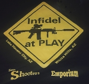 """INFIDEL AT PLAY"" T-SHIRT"