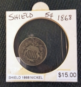 1868 SHIELD NICKEL