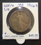 1916-D WALKING LIBERTY 50 CENTS