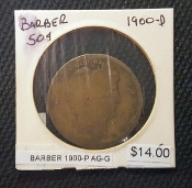 1900-P BARBER AG-G COIN