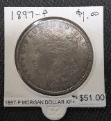 1897-P XF MORGAN DOLLAR