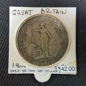 1907 GREAT BRITAIN DOLLAR