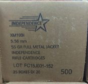 INDEPENDENCE 5.56 500 ROUNDS