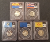 2008 US MINT USA STATE 5-COIN SET