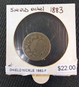 1883-F SHIELD NICKEL