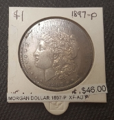 1897-P XF-AU MORGAN DOLLAR
