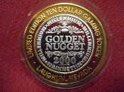 Golden Nugget Limited Edition $10 Gaming Token (2000)