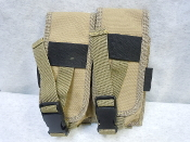 Taigear Molle Dual AR-15 Magazine Pouch in FDE